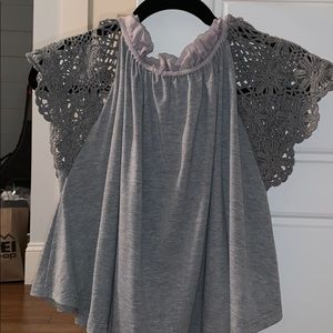 free people xs grey top